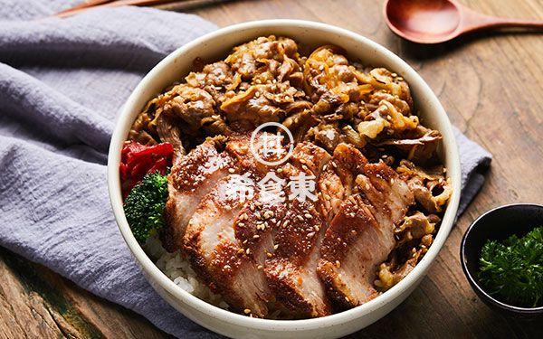 韩式烤肉牛丼双拼饭