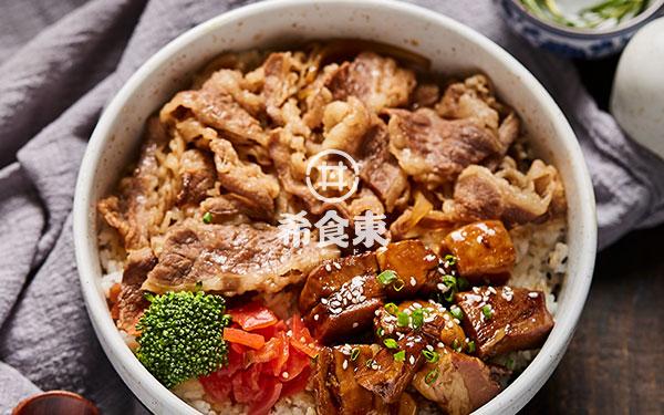 东坡肉牛丼双拼饭