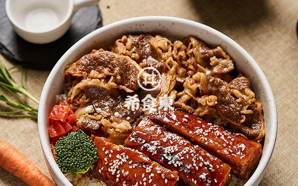 鳗鱼牛丼双拼饭